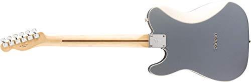 Fender Guitarra eléctrica de cuerpo sólido de 6 cuerdas, derecha, plateada, completa (145233581)