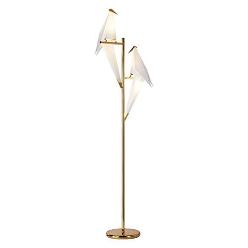 Vloerlamp, Scandinavische creatieve woonkamer vloerlamp ontwerper persoonlijkheid Duizend papier kraan Vogelverlichting Mode Studie Slaapkamer Vloerlamp