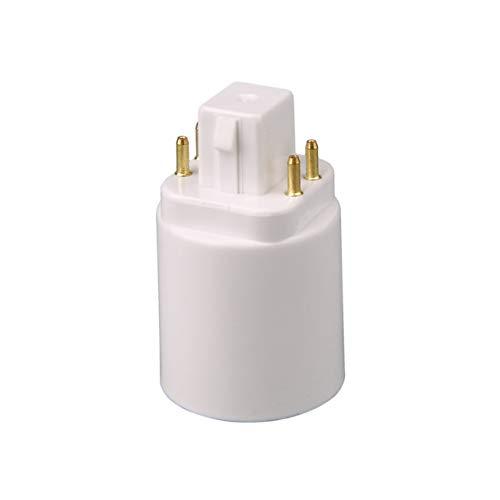 Adattatore lampada luce LED GX24Q a E27 Convertitore zoccolo portalampada Presa prolunga lampada a 4 pin con base a vite bianco (BCVBFGCXVB)