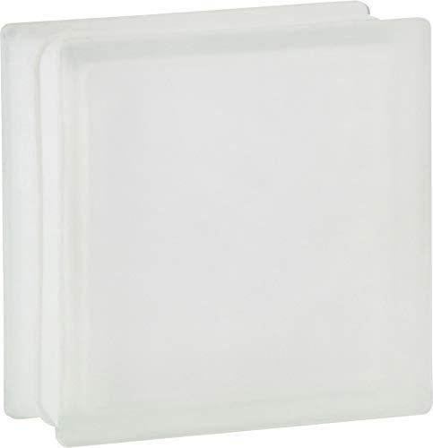 5 pieza FUCHS bloques de vidrio vista completa neutro satinado por dos lado 19x19x8 cm
