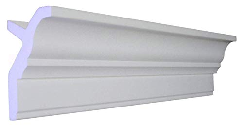 "64 Ft of 3.5"" Angelo Foam Crown Molding Room kit W/precut Corners on end of Lengths 4 Inside & 1 Out (Available in 5 Other Styles and Quantities-See Our Other LISTINGS) by Austin Crown Molding"
