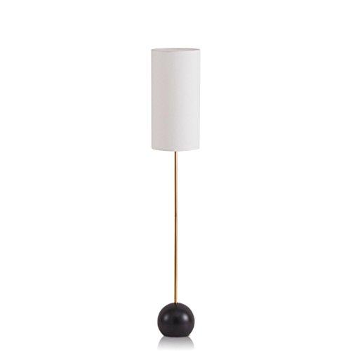 Lámpara de pie Lámpara de pie minimalista moderna, lámpara de pie con la lámpara de pie de la base metálica de la lámpara de la tela para el estudio de dormitorio relajante de la sala de estar lámpara
