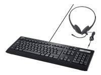 FUJITSU Keyboard KB950 Phone DE inkl. Headset USB Keyboard Skype inkl. Headset braunes Gehäuse