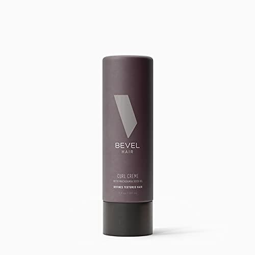 Curl Cream by Bevel - Moisturizing Curl Defining Cream, Lightweight, All-Day Hold, with Macadamia Seed and Coconut Oil, 1.0 Fl Oz