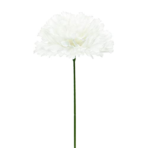 Silk Carnation Flowers, 100 Pcs Aritificial Flowers Carnation Heads with Stems, Artificial Blooming Carnation Bouquet for DIY Craft Wedding Arrangements Centerpieces Floral Gifts for Mother's Day