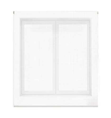 Blindecor Estor Enrollable Visillo, Textura, Blanco, 90x180