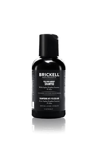 Brickell Men's Champú anticaspa para hombres, natural y orgánico, calma y elimina la caspa con...