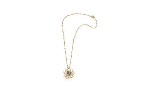 NIEVOS JEWELRY Collar largo de moda chapado en oro de 24 quilates y cadena de eslabones con cristales de Swarovski grises, minimalista, hecho a mano en Israel