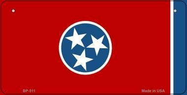 Bargain World Tennessee State Flag Bicycle License Plate (With Sticky Notes)