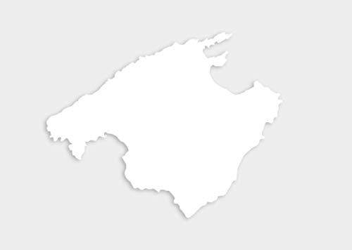Aufkleber Mallorca Insel Umriss Autoaufkleber Sticker Waschstrassenfest UV-Beständig Premium Edition
