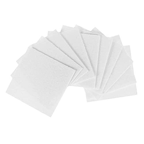 oshhni 50Pack de Papel de de Vidrio Papeles de Fibra de Cerámica Cuadrados