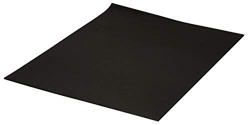 Extragroße Moosgummi-Platten, 3mm, 60 x 40 cm Schwarz