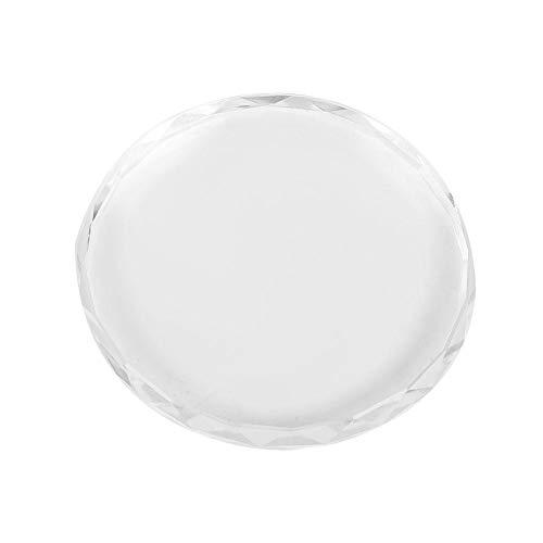 Nail Art Palette Plate Transparent paznokci Glass Art Palette Farba rysunek rysunek farby mieszanie kolorów płyty Dish Manicure Nail DIY narzędzia (okrągła szklana)