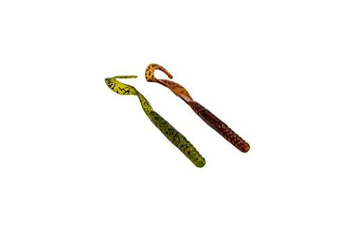 Smartbaits Robbie Ribbon Worm Kunstköder, Farbwechsel, 12,7 cm, Wassermelone bis Kürbissamen, 20 Stück
