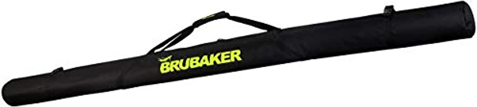 BRUBAKER XC Touring Cross-Country Ski Bag for 1 Pair of Skis and 1 Pair of Poles - Black/Neon Yellow - 76 7/8 Inches / 195 cm