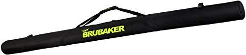 Brubaker XC Touring Langlauf Skitasche für 1 Paar Ski und 1 Paar Stöcke - Schwarz/Neon Gelb - 210 cm