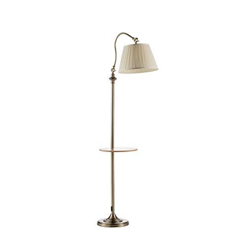 QTDH Verstelbare Arced vloerlamp met planken, Scandinavische combinatie, bijzettafel, staande lamp, led-leeslamp voor studie, slaapkamer, woonkamer, kantoor