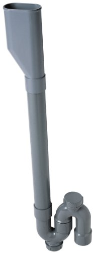 Wirquin SP5004 Siphon de Machine à Laver Double Crosse, Gris