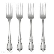 Oneida Chateau Fine Flatware Dinner Forks, Set of 4, 18/10 Stainless Steel
