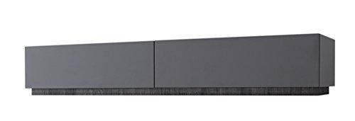 Rex TV Möbel mit Schubladen, Eiche, Anthrazit Matt, 123 x 51 x 24 cm