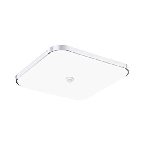 Plafón LED rectangular lámpara de techo con detector de movimiento lámpara de...