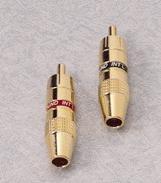 GSI PSM10, Cinch-Stecker blau u. rot, mit einem Durchmesser bis 6mm, 20 Stück