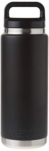 YETI Rambler 26oz Vacuum Insulated Stainless Steel Bottle with Cap, Black DuraCoat