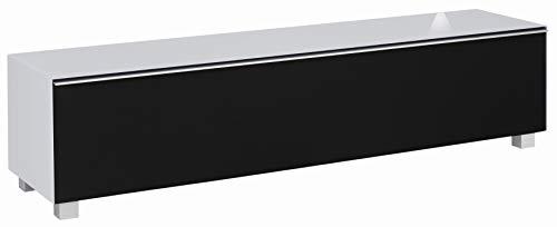 MAJA Möbel SOUNDCONCEPT Glass Soundboard, Holzwerkstoff melaminharzbeschichtet, Glas Seidengrau Matt - Akustikstoff Schwarz, 180,2 x 43,3 x 42,0 cm