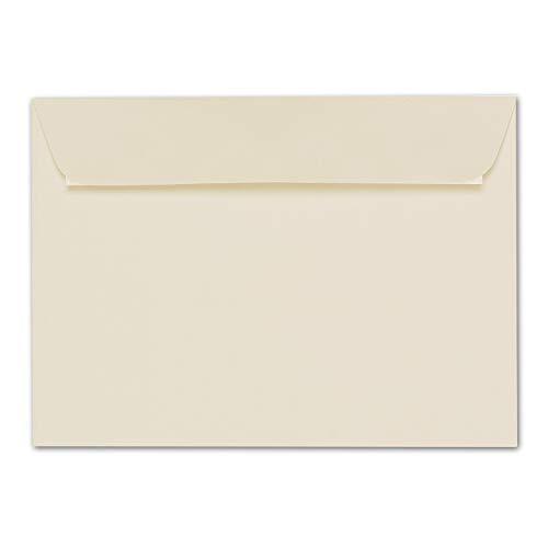 ARTOZ 50x Briefumschläge DIN C5 Creme (Chamois) - 229 x 162 mm Kuvert ohne Fenster - Umschläge selbstklebend haftklebend - Serie Artoz 1001