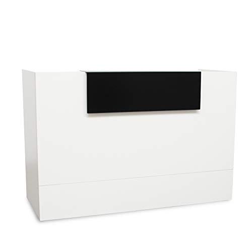 Mostrador De Recepción Blanco Madera Moderno Perfecto Para Tienda, Empresa y Oficina. Medidas APROX 107x140-160-180x62,5CM (160)