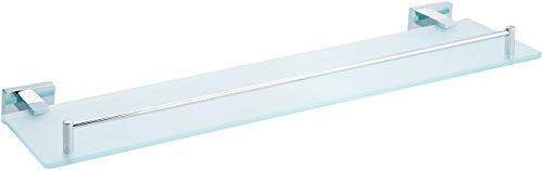 AmazonBasics AB-BR824-PC Glass Vanity Shelf Euro, 20-inch, Polished Chrome