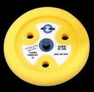 Buff and Shine 23 cm de diâmetro. Almofada de espuma amarela com contorno de 3,8 cm e orifícios de resfriamento (BFS-935GT)