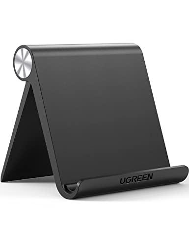 """UGREEN Soporte Tablet, Multiángulo Soporte Ajustable para 4 a 13"""" Tablets y Moviles, como iPad Pro 2018, iPad Mini, Lenovo TAB4 10, Huawei Media Pad, Xiaomi A2, Mi 8 Lite, Samsung Galaxy Tab (Negro)"""