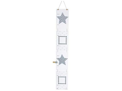 JaBaDaBaDo JaBa Decoration Messlatte Sterne Grau R16013