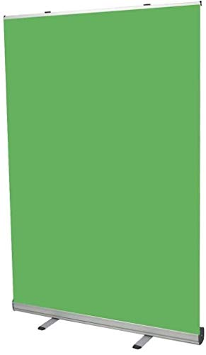 Croma Verde con Soporte Plegable - Chroma Key Verde portátil - Roll up Ideal Fondos fotografia Estudio - Green Screen con Estructura y Estuche rígido de Aluminio