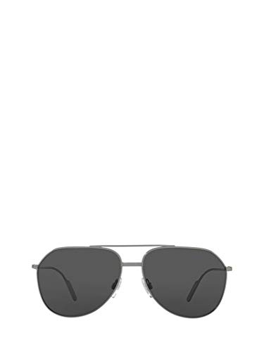 Luxury Fashion | Dolce E Gabbana Heren DG21660487 Zilver Metaal Zonnebrillen | Seizoen Permanent