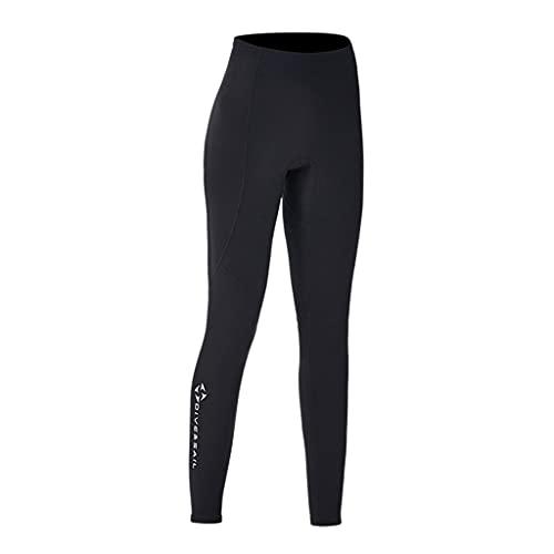 freneci Trajes de Neopreno Pantalones Pantalones de Neopreno de 2 mm Pantalones de natación para esnórquel Manténgase abrigado Pantalones de Buceo en Kayak - Mujeres XL