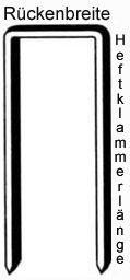 Prebena Heftklammern Type Z CNKHA | Abmessung (mm): 64