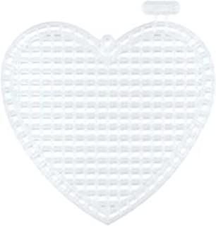 Darice Bulk Buy Plastic Canvas 7 Count 3 inch Hearts 10 Pack Clear 33147 (6-Pack)