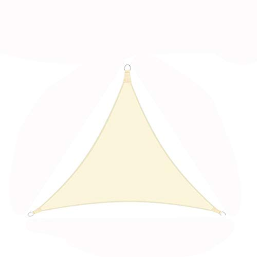 Toldo Triangular, Patio Al Aire Libre Aislamiento del Balcón Hogar Impermeable Y Protección Solar Tela Oxford, Techo Patio Exterior Terraza Toldo,Beige,3.6 x 3.6 x 3.6 m