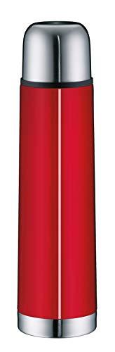 alfi 5457.202.075 Isolierflasche IsoTherm Eco, Edelstahl Feuerrot, 0,75 Liter, Drehverschluss, 12 Stunden heiß, 24 Stunden kalt, BPA-Free