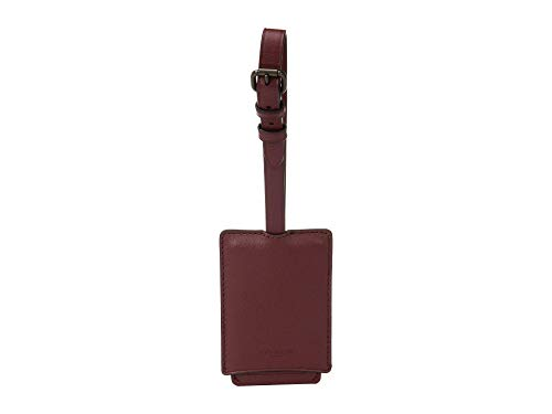 COACH Luggage Tag in Refined Leather Red One Size