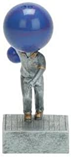 Decade Awards Bowling Ball Bobblehead Trophy - Bowler Bobblehead Award - 5.5 Inch Tall - Engraved Plate on Request