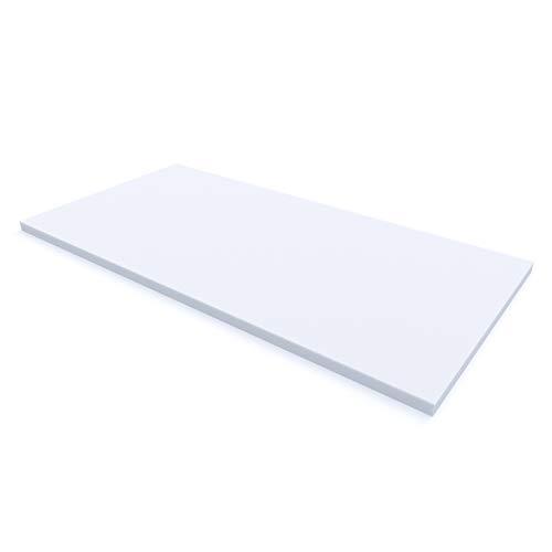 MSS® Schaumstoffplatte Polster Auflage Topper -200 x 90 x 5 cm - RG27/45