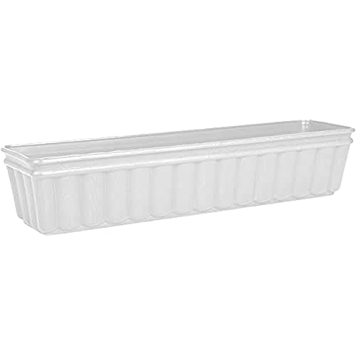 Emsa 959751200 Balcone - Jardinera (75 cm), color blanco