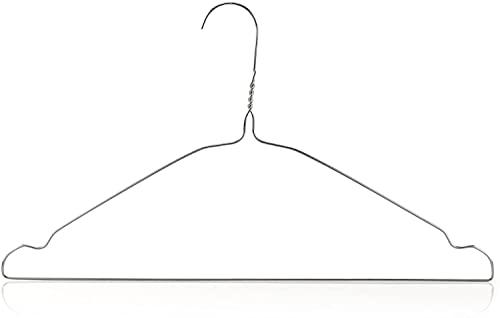 25 x grucce in metallo sottile, antiscivolo, spessore 0,2 cm, grucce per pressing, cappotti, camicie, abiti, gonne, pantaloni, (nero, 40 cm)
