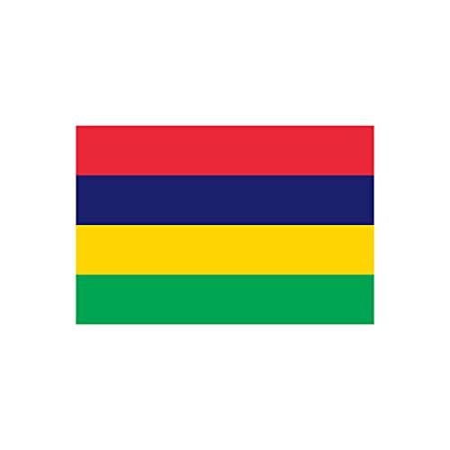 Mauritius-Flagge zum Aufbügeln, Siebdruck, für Stoffe, maschinenwaschbar, 2 Stück
