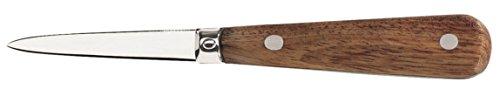 LE COUTEAU DU CHEF 404700 LANCETTE à HUITRES Professionnelle, Acier Inoxydable, Bois, 23,3 x 2,4 x 1,8 cm