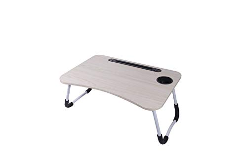 Bed Laptop Desk to Finish Work, Portable Breakfast Table in Bed Tray, Stand for Bed,Foldable Lap Desk Legs, Built in Slot, Cup Slot,Four USB sockets, a 5-foot USB Data line. Watching Movies or Dining.