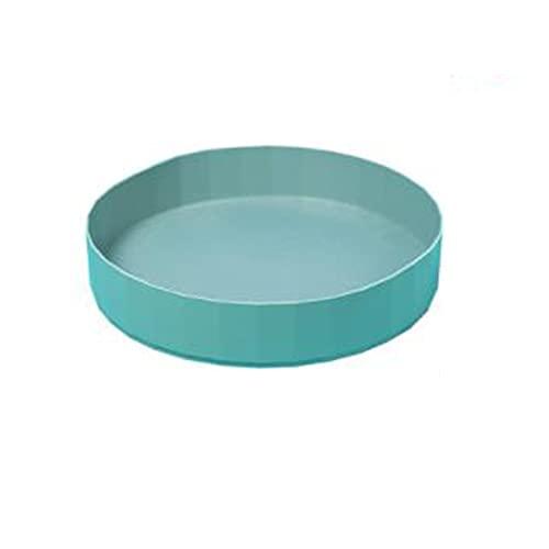 ZHYU Especiero Giratorio Bandeja Giratoria De Plástico para Cocina Armarios Lazy Susan Soportes para Botes para Frigorífico Aparador Encimera 26 * 5.5cm Blanco/Verde